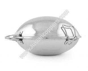 Aluminium Smooth Cataplana - Flat Bottom